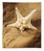 Starfish In Sand Fleece Blanket