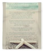 Starfish Make A Difference Vintage Set 1 Fleece Blanket