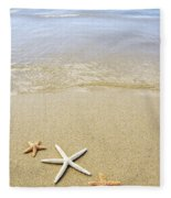 Starfish On Beach Fleece Blanket