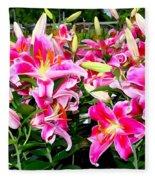 Stargazer Lilies #5 Fleece Blanket