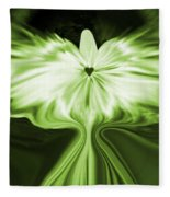 Starlight Angel - Green Fleece Blanket