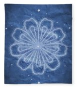 Starry Kaleidoscope Fleece Blanket