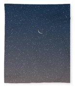 Starry Morning Sky Fleece Blanket