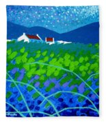 Starry Night In Wicklow Fleece Blanket