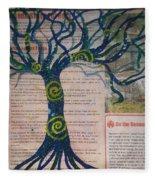 Starry Night-inspired Tree Fleece Blanket