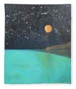 Starry Sky Above The Ocean Fleece Blanket