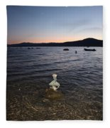 Starry Sky Over Lake Tahoe Fleece Blanket