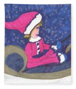 Starry Sleigh Ride Fleece Blanket