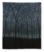 Starry Trees Fleece Blanket