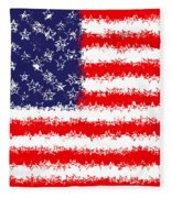 Stars And Stars And Stripes Fleece Blanket