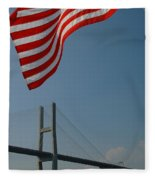 Stars And Stripes In Savannah Fleece Blanket