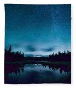 Stars Over Lake Vermilion Fleece Blanket