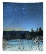Stars Over The New Hampshire White Mountains Fleece Blanket