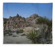 Stars Shining Over Indian Cove Fleece Blanket