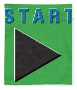 Start Button Fleece Blanket