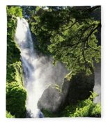 Starvation Creek Falls In September  Fleece Blanket