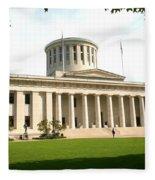 State Capitol Of Ohio Fleece Blanket