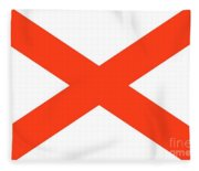 State Flag Of Alabama Fleece Blanket