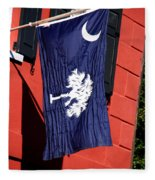 State Flag Of South Carolina Fleece Blanket