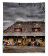 Station - Westfield Nj - The Train Station Fleece Blanket