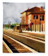 Station In Waiting Fleece Blanket