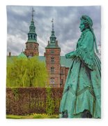 Statue At Rosenborg Castle Fleece Blanket