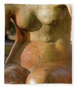 Statue In The Nude Fleece Blanket