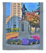 Statue In The Square Fleece Blanket