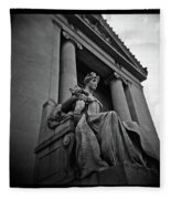 Statue Of Justice At The Courthouse In Memphis Tennessee Fleece Blanket