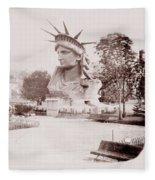 Statue Of Liberty 1883 Fleece Blanket