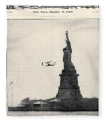 Statue Of Liberty, 1909 Fleece Blanket