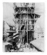 Statue Of Liberty, C1883 Fleece Blanket