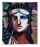 Statue Of Liberty Hb5t Fleece Blanket