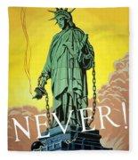 Statue Of Liberty In Chains -- Never Fleece Blanket