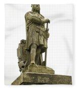 Statue Of Robert The Bruce Stirling Castle Fleece Blanket