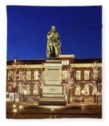Statue Of William Of Orange On The Plein - The Hague Fleece Blanket
