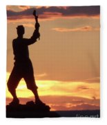 Statue On Cemerty Ridge Fleece Blanket