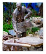 Statues Of After Noon Tea Fleece Blanket