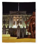 Statues View Of Buckingham Palace Fleece Blanket