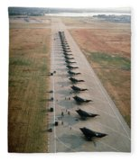Stealth Fighters 37 Tactical Fighter Wing Fleece Blanket