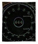 Steam Engine 444 Fleece Blanket