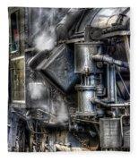 Steam Engine Detail Fleece Blanket