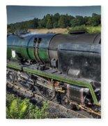 Steam Locomotive 34027 The Taw Valley Fleece Blanket