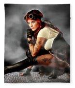 Steam Mistress Fleece Blanket