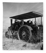 Steam Tractor Fleece Blanket