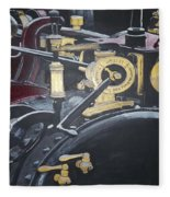Steam Tractor Fleece Blanket