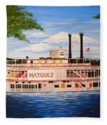 Steamboat On The Mississippi Fleece Blanket