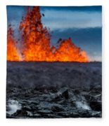 Steaming Lava And Plumes Fleece Blanket