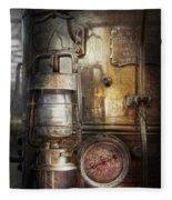Steampunk - Silent Into The Night Fleece Blanket
