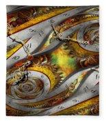 Steampunk - Spiral - Space Time Continuum Fleece Blanket